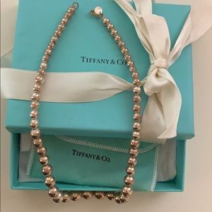 Tiffany & Co bead silver necklace